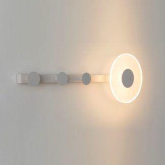Biały kinkiet Venus - LED, z wieszakiem