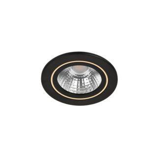 Czarne oczko sufitowe Alec - Nordlux, LED, funkcja ściemniania
