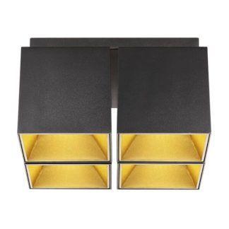 Czarna lampa sufitowa Ethan 4 - Nordlux, nowoczesna