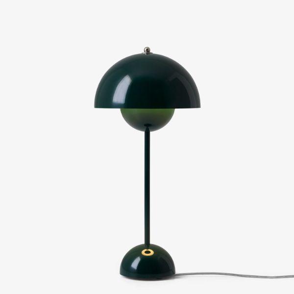 Kultowa lampa stołowa Flowerpot VP3 - ciemna zieleń