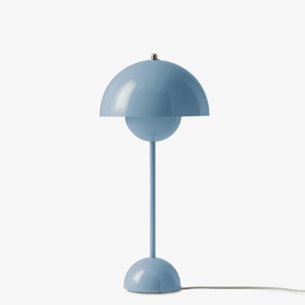 Elegancka lampa stołowa Flowerpot VP3 - jasnoniebieska