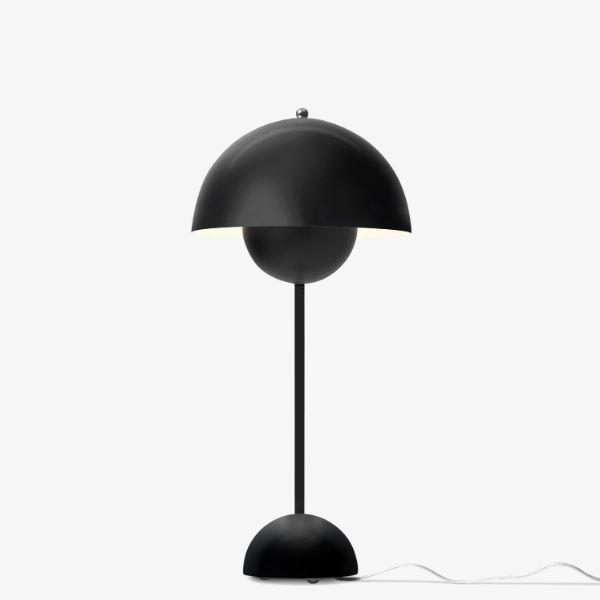 Nowoczesna lampa stołowa Flowerpot VP3 - czarny mat