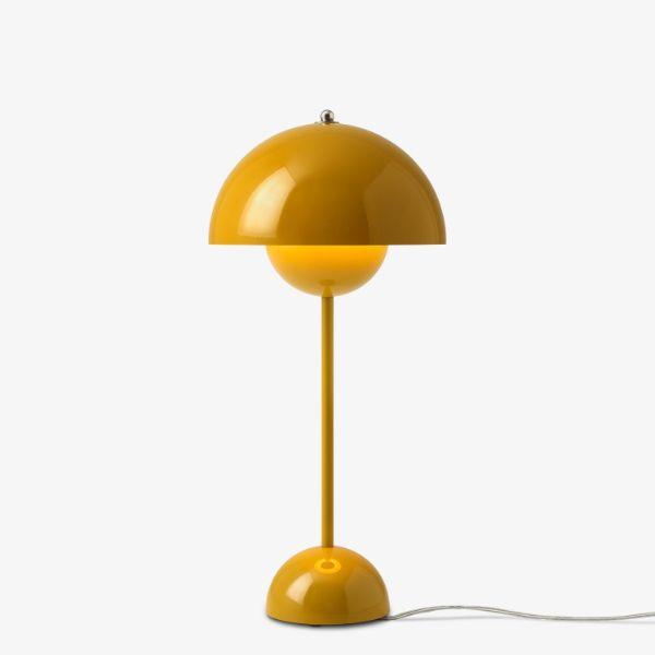 Musztardowa lampa stołowa Flowerpot VP3 - wymienna żarówka
