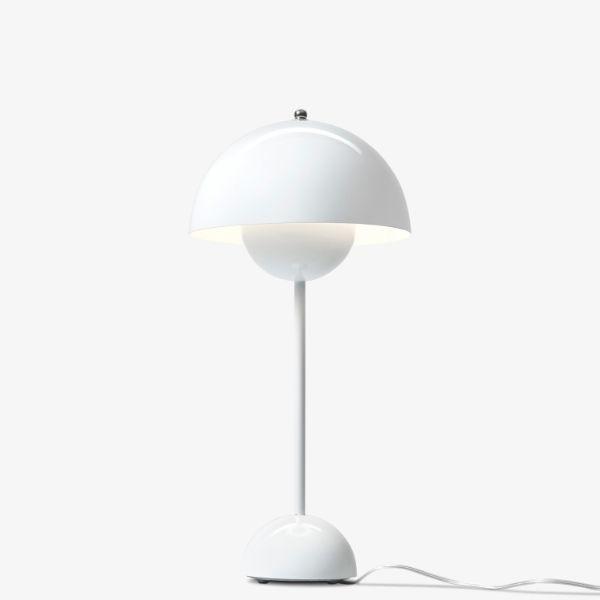 Efektowna lampa stołowa Flowerpot VP3 - biała