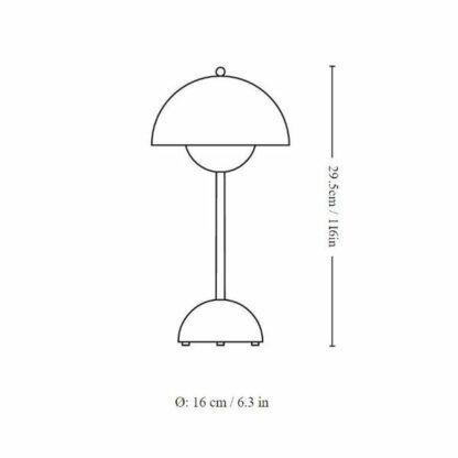 Lampa stołowa Flowerpot VP9 - na USB, piaskowa