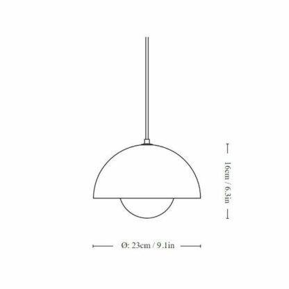 Różowa lampa wisząca Flowerpot VP1 - 23cm