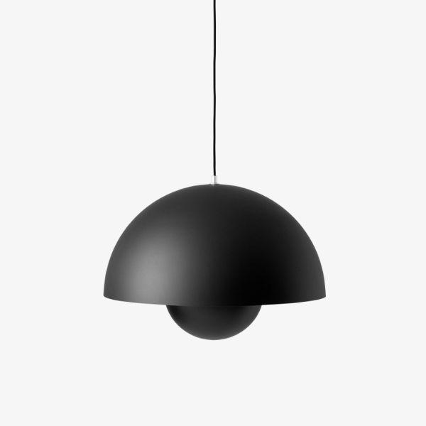 Duża lampa wisząca Flowerpot VP2 - czarny mat, 50cm