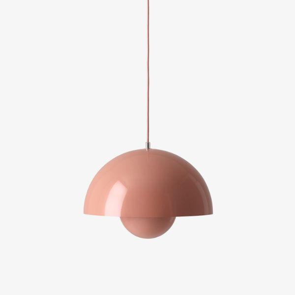 Nowoczesna lampa wisząca Flowerpot VP7 - różowa, 37cm