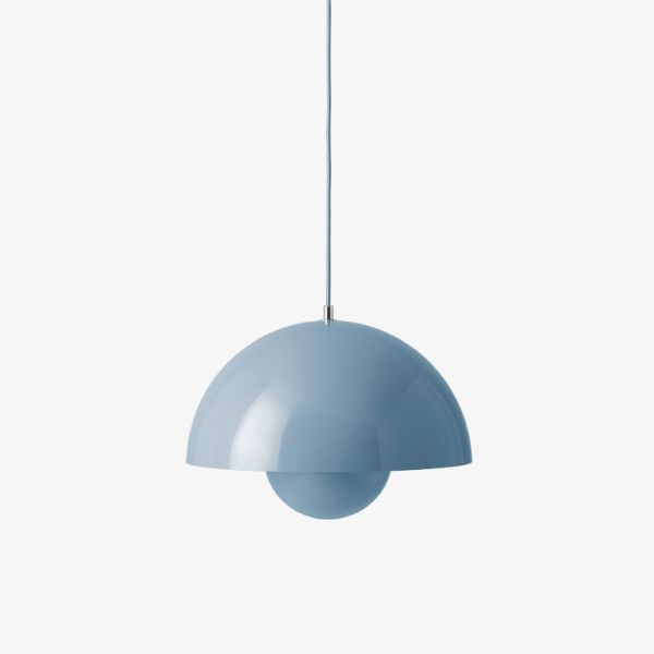 Lampa wisząca Flowerpot V7 - 37cm, jasnoniebieska