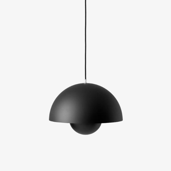 Lampa wisząca Flowerpot VP7 - czarny mat, 37cm