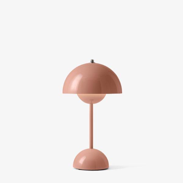Różowa lampa stołowa Flowerpot VP9 - na USB, ze ściemniaczem