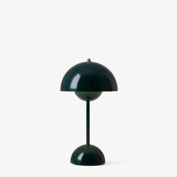 Zielona lampa stołowa Flowerpot VP9 - przenośna, ze ściemniaczem