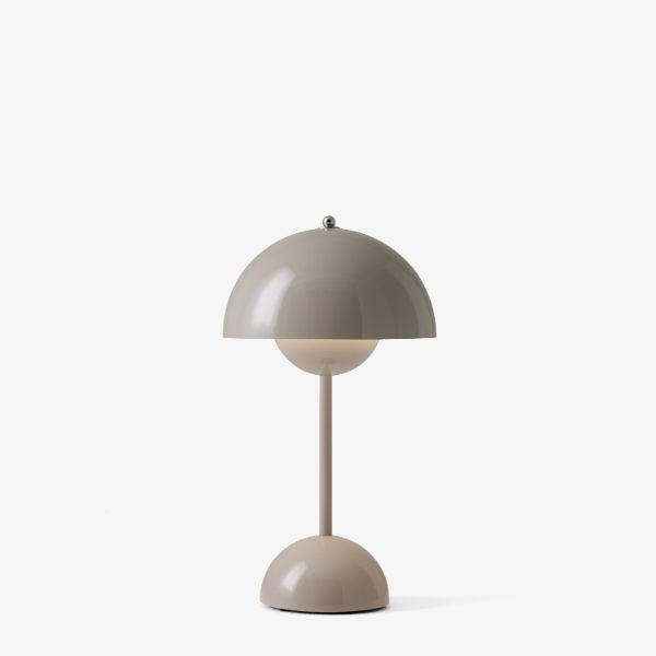 Mobilna lampa stołowa Flowerpot VP9 - beżowa szarość