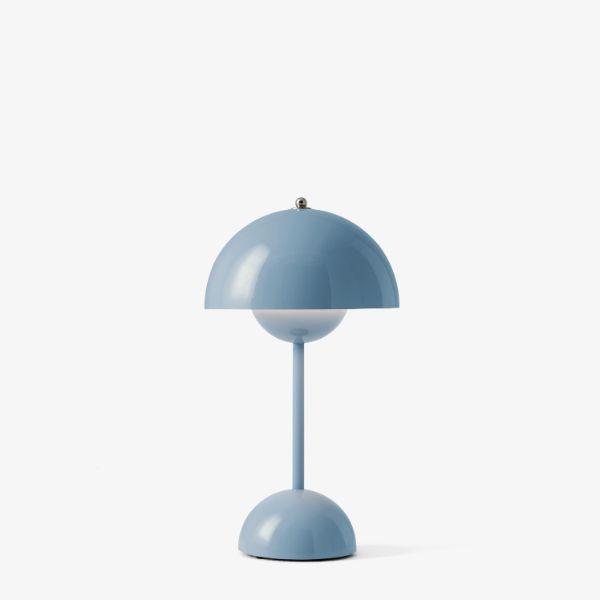 Przenośna lampa stołowa Flowerpot VP9 - niebieska, na USB