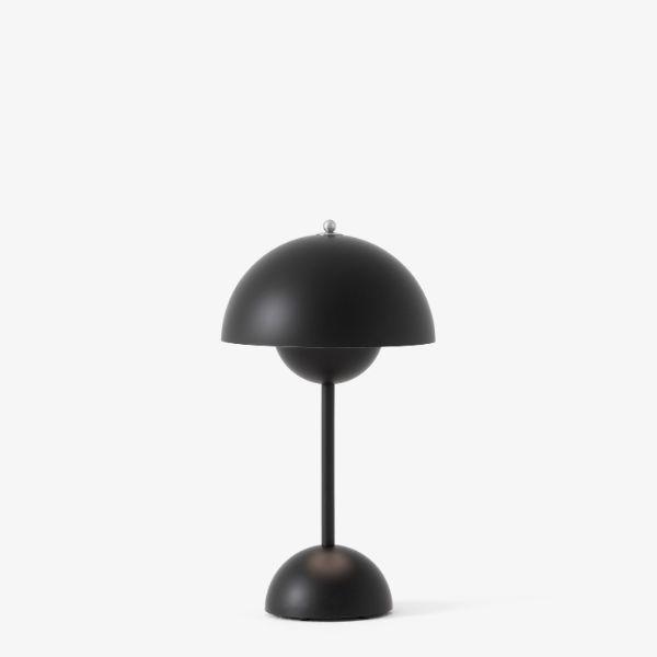 Nowoczesna lampa mobilna Flowerpot VP9 - czarny mat
