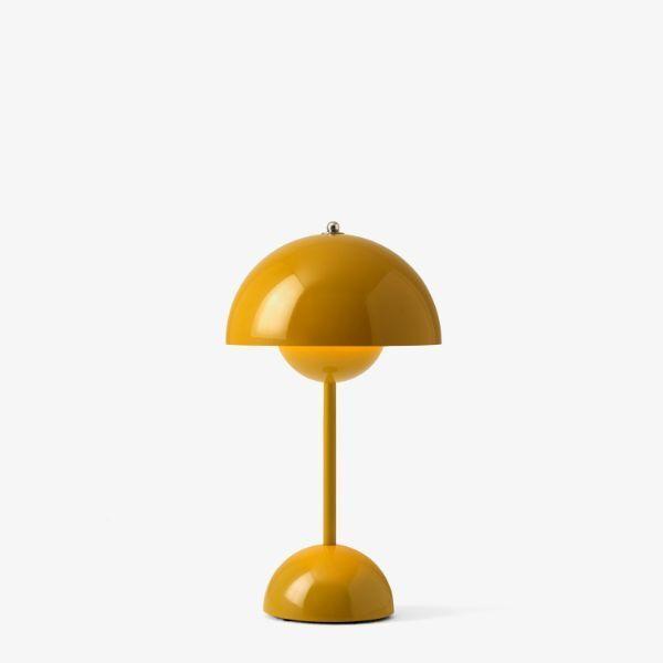 Lampa stołowa Flowerpot VP9 - na USB, musztardowa