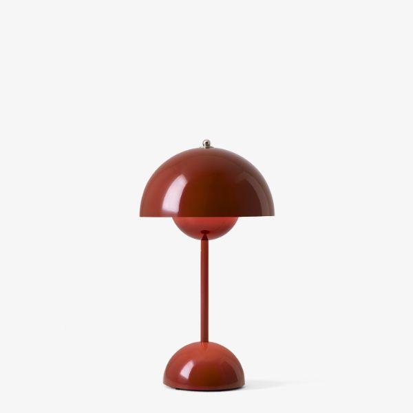 Przenośna lampa stołowa Flowerpot VP9 - kasztanowa