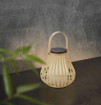 Lampion solarny Leo - bambusowy, IP44