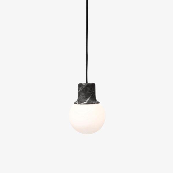 Lampa wisząca Mass Light NA5 - szklany klosz, marmur