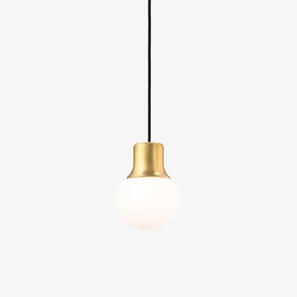 Lampa wisząca Mass Light NA5 - szklany klosz, mosiądz