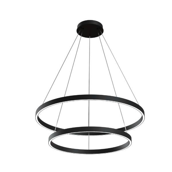 Ledowa lampa wisząca Rim - dwa okręgi