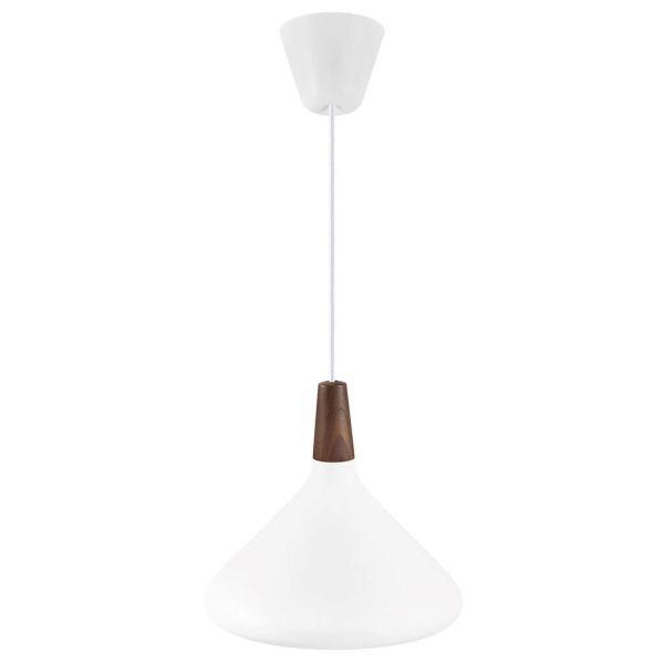 szeroka lampa wisząca do kuchni