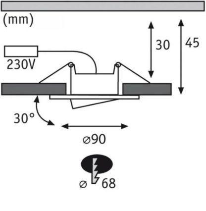 Oczko wpuszczane Calla - 465lm, 4000K, IP65