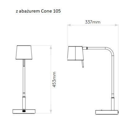 Lampa biurkowa Miura - USB, srebrna