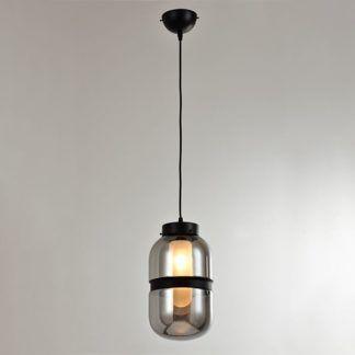 Szklana lampa wisząca Yoko - nowoczesna