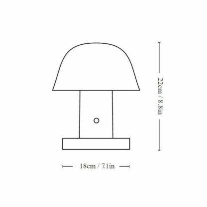 Lampa mobilna Setago JH27 - czerwień i granat