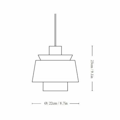 Lampa wisząca Utzon JU1 - biel, mosiądz