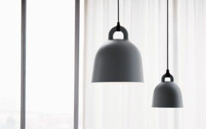 Lampa wisząca Bell M - szary klosz