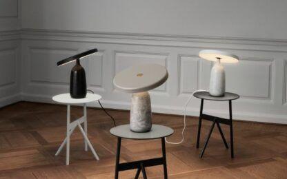 nowoczesne lampy stołowe z włoskiego marmuru