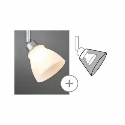 srebrny reflektor do systemu szynowego