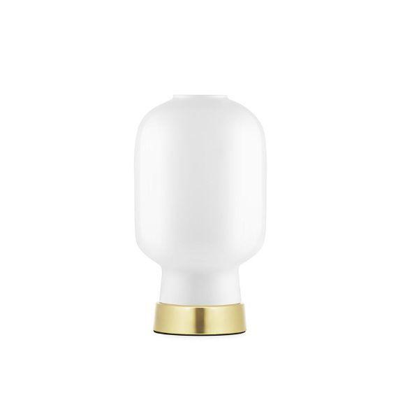 lampa stołowa biel i złoto nowoczesna
