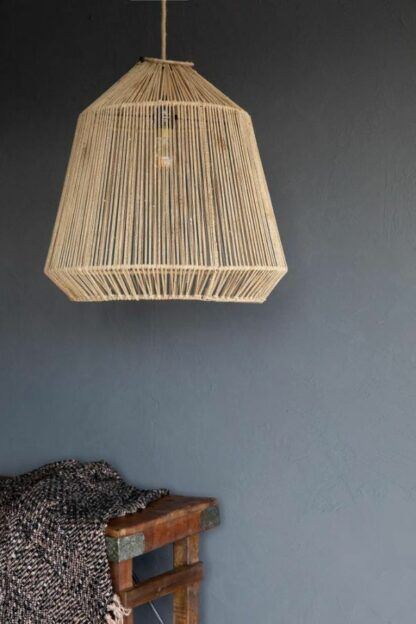 Naturalna lampa wisząca Conic - styl boho