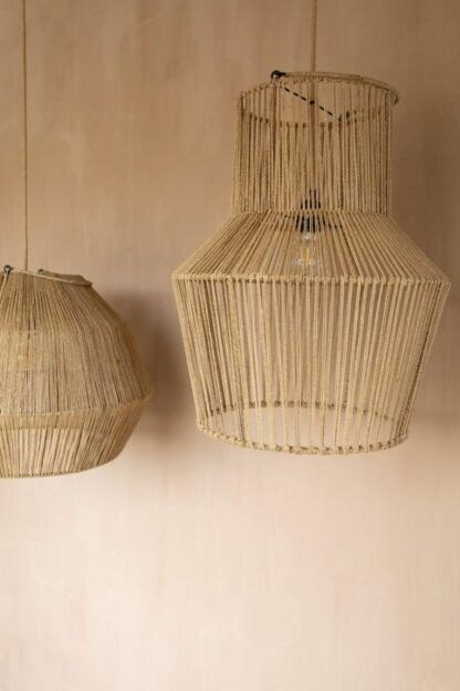 Efektowna lampa wisząca Jarron - trawa morska