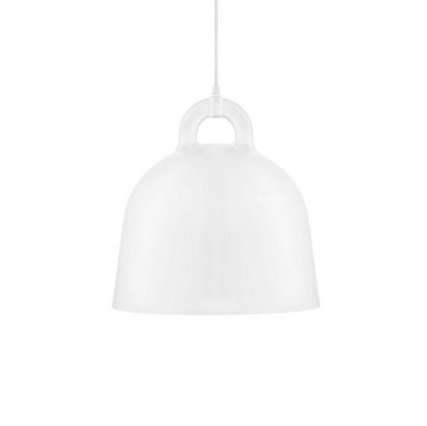Lampa wisząca Bell M - biały klosz