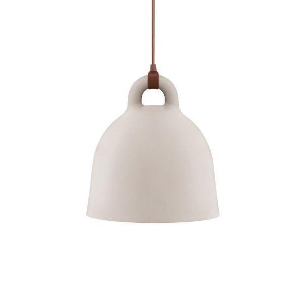 Kremowa lampa wisząca Bell M - skandynawska