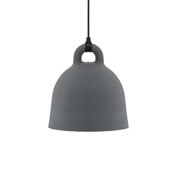 Lampa wisząca Bell M - długie zawieszenie, szara