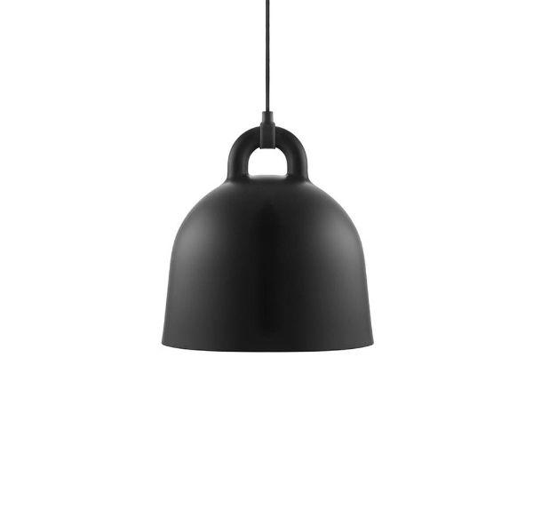 Lampa wisząca Bell S - czarny klosz