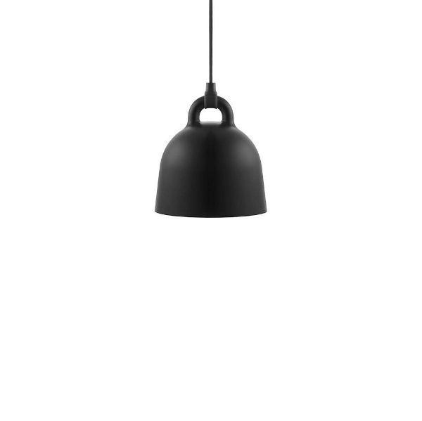 Mała lampa wisząca Bell XS - czarny klosz