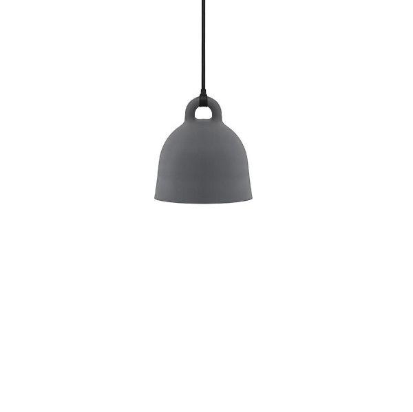 Szara lampa wisząca Bell XS - mały klosz