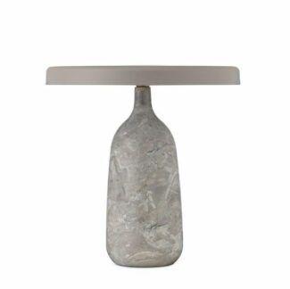 Szara lampa stołowa Eddy - podstawa z włoskiego marmuru