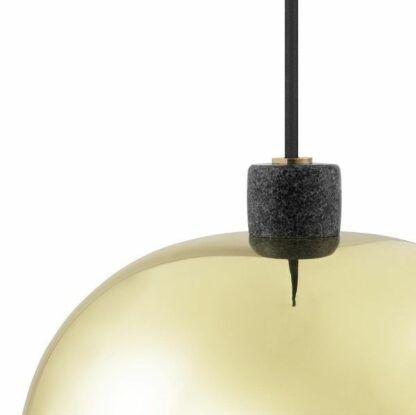 Złota lampa wisząca Grant - Ø45, zamknięty klosz