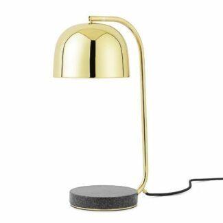 Elegancka lampa stołowa Grant - mosiądz, granit