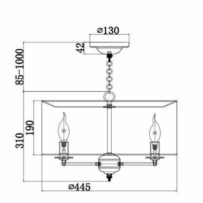 Klasyczna lampa wisząca Anna - kremowy abażur