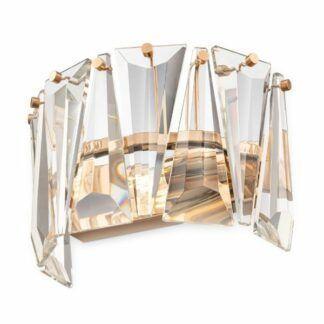 Złoty kinkiet Puntes - kryształki