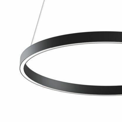 Ledowa lampa wisząca Rim - czarna, 60cm