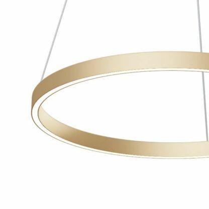 Złota lampa wisząca Rim - LED, 60cm
